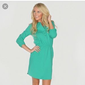 Lauren James The Virginia Jersey Dress Green Sz M